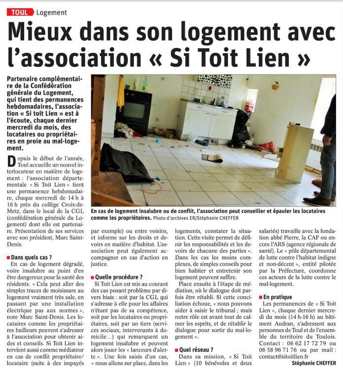Article Est Républicain édition de Toul 06 juin 2019